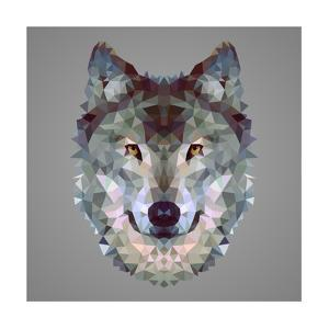 Wolf Low Poly Portrait by kakmyc