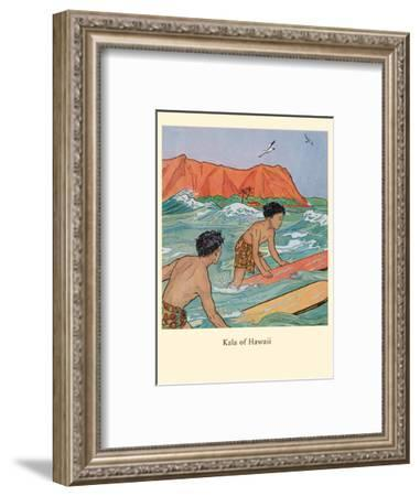 Kala of Hawaii - Book Illustration, from Children from Foreign Lands-Ninon MacKnight-Framed Art Print