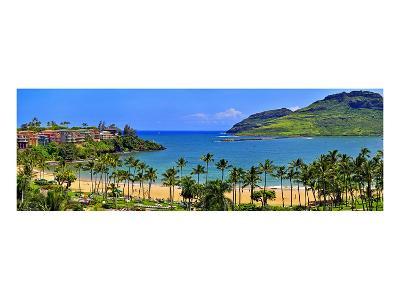 Kalapaki Bay at the Marriott Hotel, Lihue, Island of Kauai, Hawaii, USA--Art Print