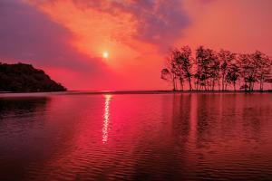 Purple Sunset over the Sea by kalarati
