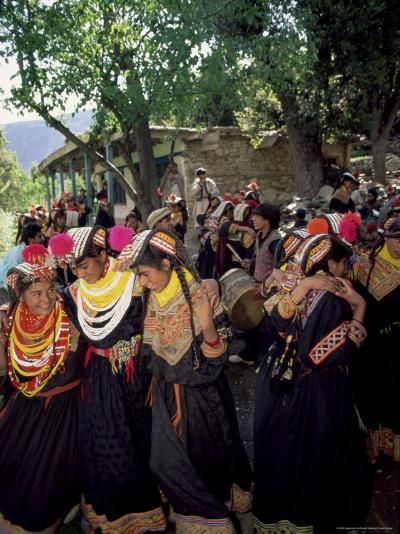 Kalash Women, Rites of Spring, Joshi, Bumburet Valley, Pakistan, Asia-Upperhall Ltd-Photographic Print