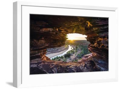 Kalbarri National Park, Kalbarri, Western Australia, Australia. View of the Murchison River Gorge f-Marco Bottigelli-Framed Photographic Print
