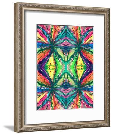 Kaleidoscope Abstract Pattern 223-Debbie Pearson-Framed Art Print