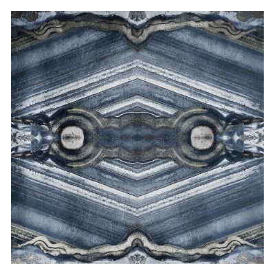 Kaleidoscope Blues And Silvers-Jace Grey-Art Print