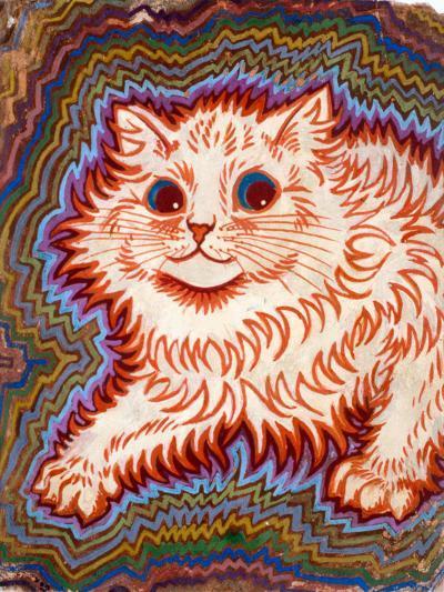Kaleidoscope Cats III-Louis Wain-Giclee Print