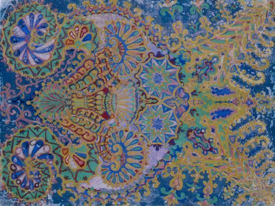 Kaleidoscope Cats VII-Louis Wain-Giclee Print
