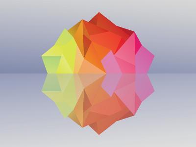 Kaleidoscope Iceberg--Art Print