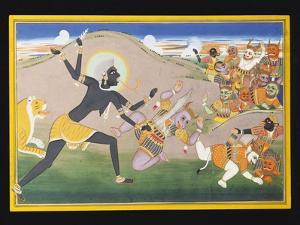 Kali Slaying Demons, C.1800-1820