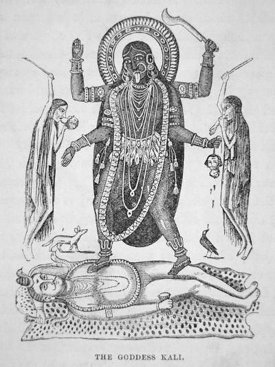 Kali the Hindu Goddess--Giclee Print
