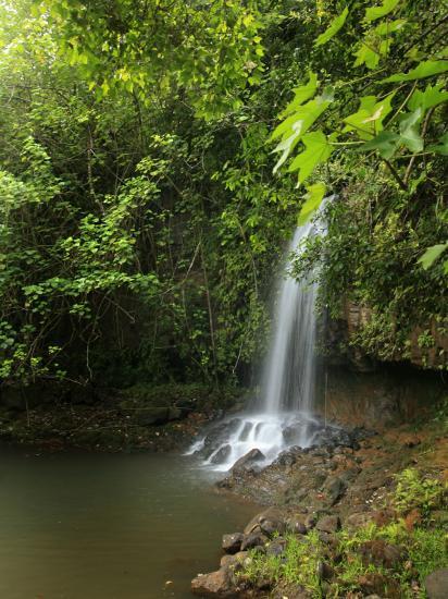 Kalihiwai Stream and Waterfall, Hawaii, USA-Douglas Peebles-Photographic Print