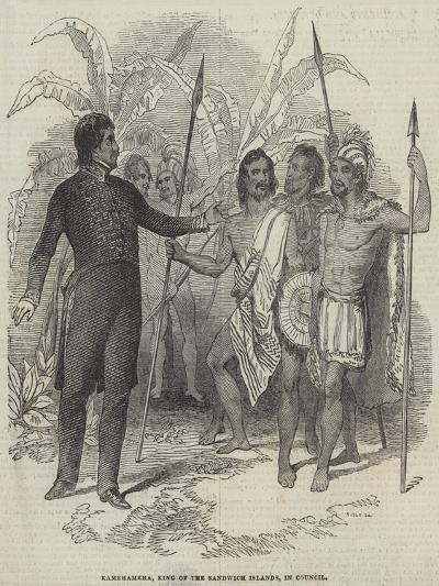 Kamehameha, King of the Sandwich Islands, in Council--Giclee Print