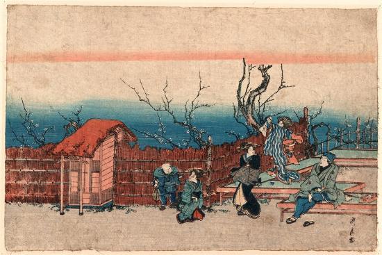 Kameido Umeyashiki-Utagawa Kunitora-Giclee Print