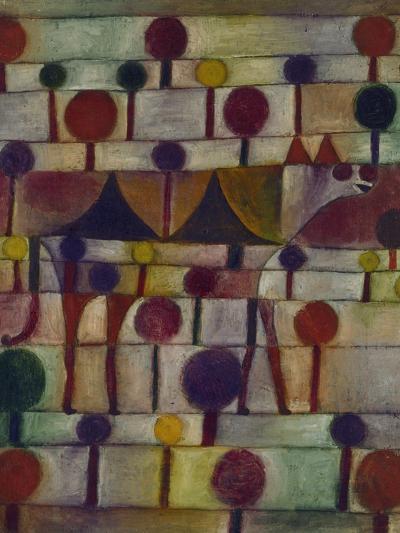 Kamel in Rhythmischer Baumlandschaft, 1920-Paul Klee-Giclee Print