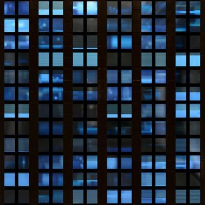 Texture Resembling Illuminated Windows in a Building at Night by Kamira