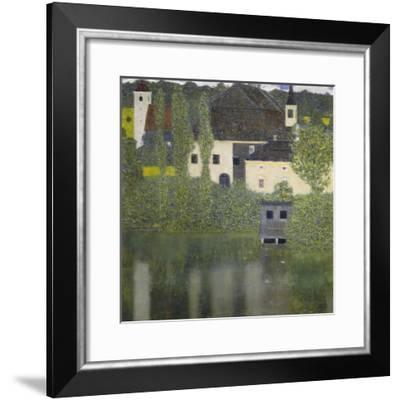 Kammer Castle on Lake Attersee I, 1908-Gustav Klimt-Framed Giclee Print