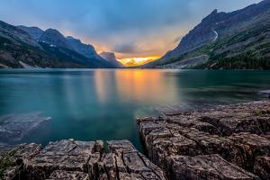 Sunset at St. Mary Lake, Glacier National Park, MT by kan_khampanya