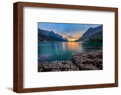 Sunset at St. Mary Lake, Glacier National Park, MT
