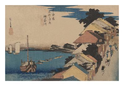 Kanagawa-Ando Hiroshige-Art Print