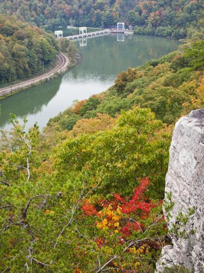 Kanawha River Overlook, Hawks Nest State Park, Anstead, West Virginia, USA-Walter Bibikow-Photographic Print