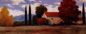 Burgundy Farmhouse I by Kanayo Ede