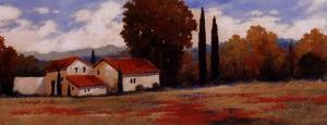 Burgundy Farmhouse II by Kanayo Ede