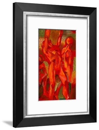 Kandinsky's Dancers II-John Newcomb-Framed Giclee Print