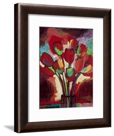 Kandinsky's Tulips-John Newcomb-Framed Giclee Print