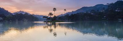 Kandy Lake and the Island at Sunrise, Kandy, Central Province, Sri Lanka, Asia-Matthew Williams-Ellis-Photographic Print