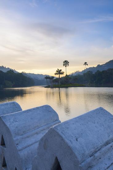 Kandy Lake at Sunrise-Matthew Williams-Ellis-Photographic Print