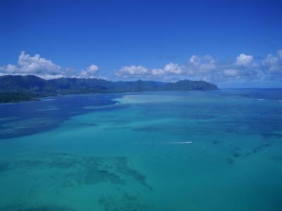 Kaneohe Bay, Kaneohe, Oahu, Hawaii, USA-Douglas Peebles-Photographic Print