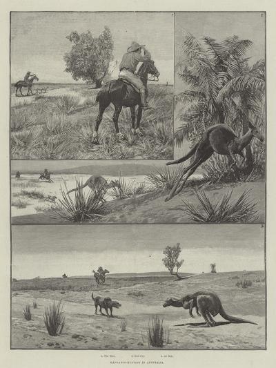Kangaroo-Hunting in Australia--Giclee Print