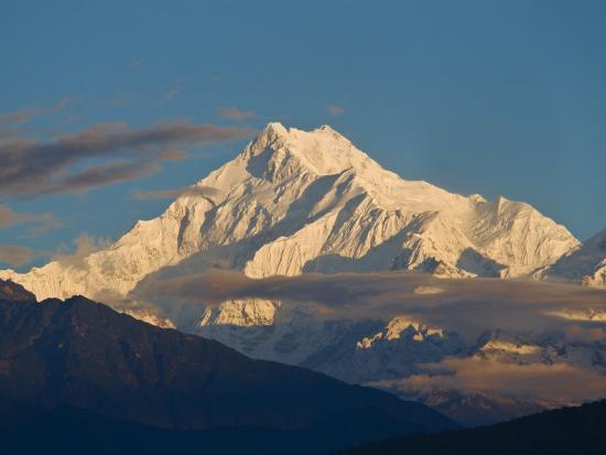 Kangchendzonga Range, View of Kanchenjunga, Ganesh Tok Viewpoint, Gangtok, Sikkim, India-Jane Sweeney-Photographic Print