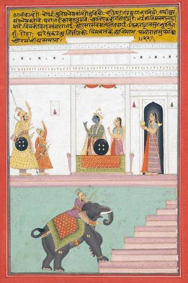 Kanhada Ragini of Dipak, C.1755--Giclee Print