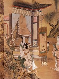 Painting, from Elegant Pastimes, Japanese screen, Edo period, early 18th century by Kano Tansetsu