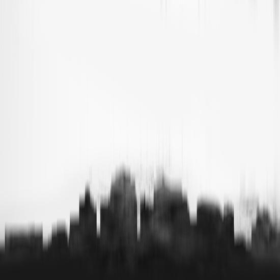 Kansas City Skyline - Black-NaxArt-Art Print