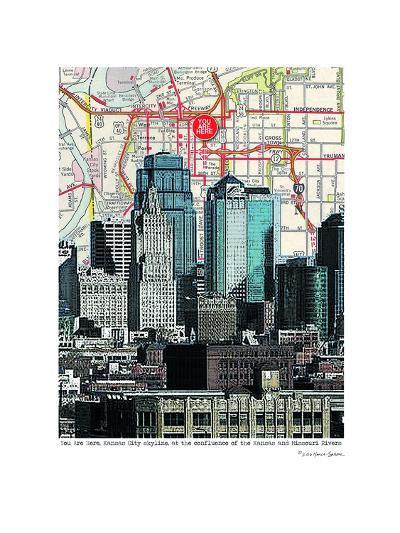 Kansas City Skyline--Art Print
