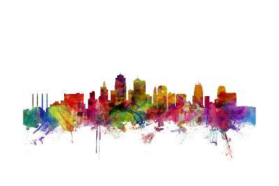 Kansas City Skyline-Michael Tompsett-Art Print