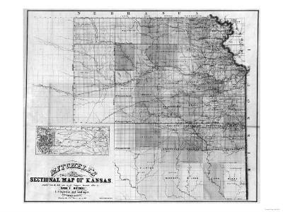 Kansas - Panoramic Map-Lantern Press-Art Print