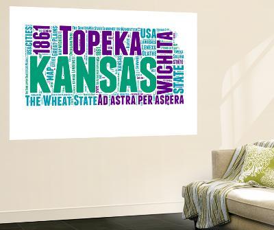 Kansas Word Cloud Map-NaxArt-Wall Mural