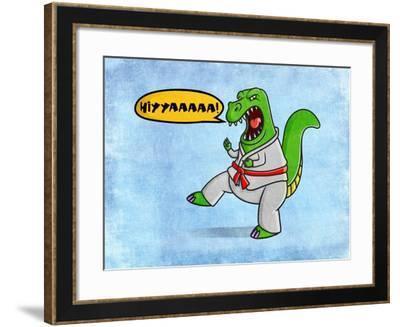 Karate Dino-Marcus Prime-Framed Art Print