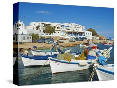 Karavostasis Village and Principal Port, Folegandros, Cyclades Islands, Greek Islands, Aegean Sea, -Tuul-Stretched Canvas Print