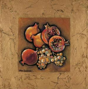 Pomegranates and Grapes by Karel Burrows
