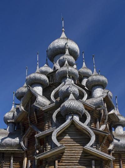 Karelia, Lake Onega, Kizhi Island, Roof of the Church of the Transfiguration, Russia-Nick Laing-Photographic Print