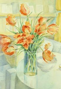 Artist's Tulips in the Drawing Room by Karen Armitage