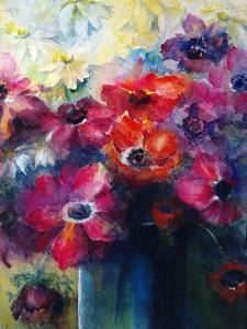 Caen Anemones with Daisies by Karen Armitage