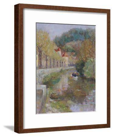 Canal at Noyers, Burgundy, 2002