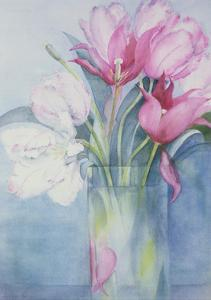 Pink Parrot Tulips and Marlette by Karen Armitage