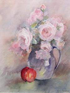 Pink Roses in a Blue Jug, 1994 by Karen Armitage