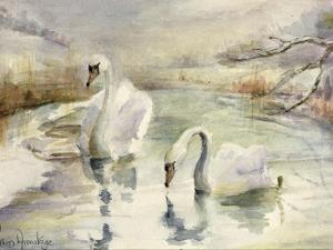 Swans in Winter by Karen Armitage
