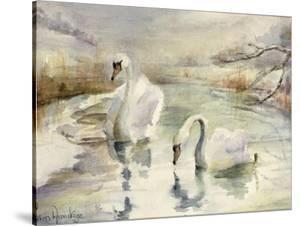 Swans in Winter by Karen Armitage